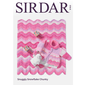 Sirdar Coat & Blanket Knitting Pattern, 5162 in Snuggly Snowflake Chunky